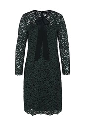 Hallhuber Lace Dress With Self Tie Detail Green