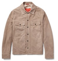 Isaia Water Resistant Aqualeather Jacket Beige