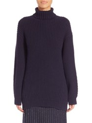 Acne Studios Oversized Wool Turtleneck Sweater Navy