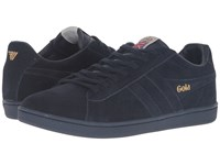 Gola Equipe Suede Navy Navy Men's Shoes Blue
