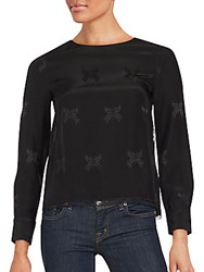 Zadig And Voltaire Printed Silk Top Black