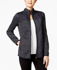 G.H. Bass And Co. Herringbone Quilted Trim Jacket Deep Navy Combo