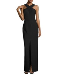 Elizabeth And James Mila Crossback Gown Black White