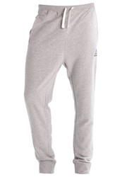 Reebok Tracksuit Bottoms Medium Grey Heather Mottled Grey