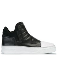 Bruno Bordese Quilted Tongue Sneakers Black