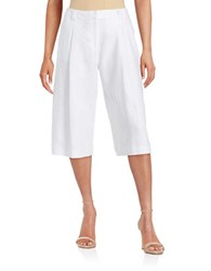 Michael Michael Kors Linen Pleated Culottes White