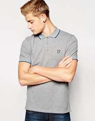 Lyle And Scott Vintage Polo Shirt With Tipping Greymar