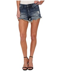 Denim Distress Hi Rise Short In Fit Of Rage Fit Of Rage Women's Shorts Blue