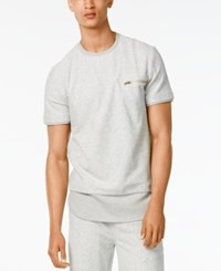 Sean John Men's Double Layer T Shirt Platinum Heather