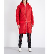 Hood By Air Against Cotton Quilted Jacket Red
