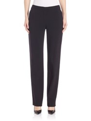 Escada Straight Leg Wool Pants Black