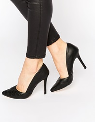 New Look Cut Out Heeled Court Shoes Black