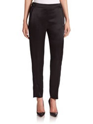 Escada Satin Evening Pants Black