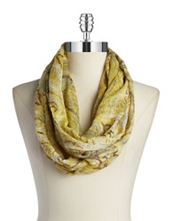 William Rast Paisley Loop Scarf Brown