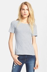 Women's Frame Denim 'Le Slim' Cotton Tee Cashmere Blue