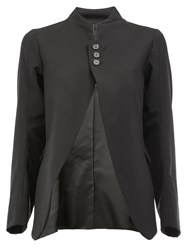 Christopher Nemeth Mandarin Neck Blazer Black