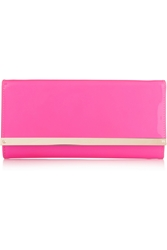 Jimmy Choo Milla Neon Patent Leather Clutch