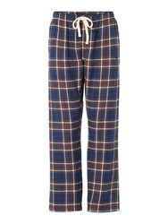 Howick Grid Check Flannel Pant Navy