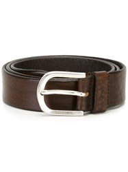Dondup Silver Tone Buckle Belt Brown