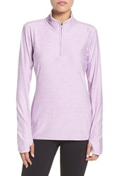 The North Face Women's 'Motivation' Quarter Zip Pullover Lupine Heather