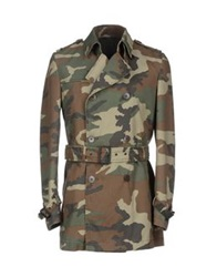 Grey Daniele Alessandrini Full Length Jackets Military Green