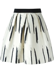 Eggs 'Danila' Flared Skirt White