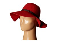 Scala Poly Felt Floppy With Braid Trim Rust Traditional Hats Red