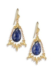 Anthony Camargo 14K Yellow Gold And Sapphire Chandelier Earrings Gold Sapphire