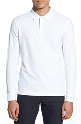 Men's Kent And Curwen 'Core' Long Sleeve Cotton Polo