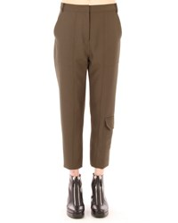 T By Alexander Wang Sleek Cropped Cargo Pants Lichen Size 8