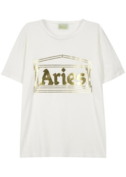 Aries Foiled Logo White T Shirt