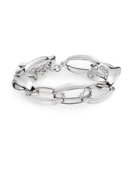 Saks Fifth Avenue Sterling Silver Linked Toggle Bracelet