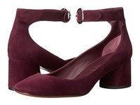 Marc Jacobs Kerry Ankle Strap Pump Bordeaux High Heels Burgundy