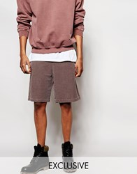 Reclaimed Vintage Shorts In Overdye Brown