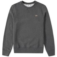 Ami Alexandre Mattiussi Small Logo Crew Sweat Grey