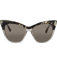 Erdem Edm22 C3 Cat Eye Sunglasses Marble Grey Glitter