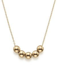 Bloomingdale's 14K Yellow Gold Five Bead Pendant Necklace 18