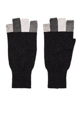 Autumn Cashmere Multi Fingerless Glove Charcoal