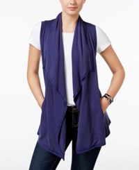G.H. Bass And Co. Draped Open Front Vest True Navy