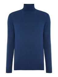 Chester Barrie Merino Roll Neck Ocean