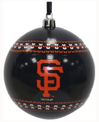 Memory Company San Francisco Giants Ugly Sweater Ball Ornament Black