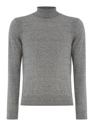 Duck And Cover Men's Cast Stretch Turtle Neck Jumper Grey