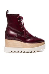 Stella Mccartney Elyse Platform Boots In Red