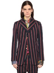 Vivienne Westwood Striped Stretch Cotton Jacket