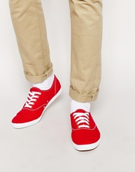 Keds Champion Plimsolls Red
