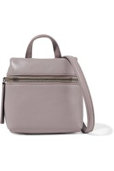 Kara Micro Textured Leather Shoulder Bag Taupe