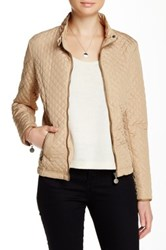 Sisters Long Sleeve Stand Up Collar Jacket Beige