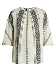 Ace And Jig Beatrice Woven Cotton Top White Black