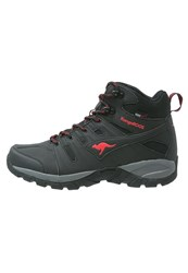 Kangaroos Walking Boots Black Red