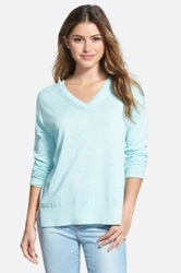 Nic Zoe 'Sightseeing' V Neck Top Blue